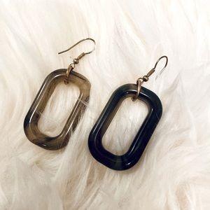 """Women's Dangle Dressy Earrings NWOT 2"""" Brown"""